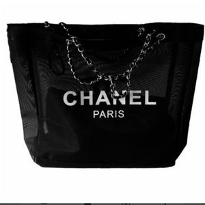 New Chanel VIP beauty tote in silver